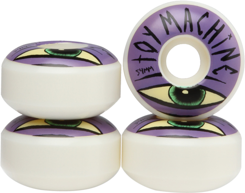 Roda Street Toy Machine Sect Eye 54mm 100A - 4 unid.