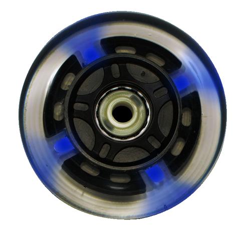 Roda Traxart LED Azul - 80mm / 80A - 4 unid.