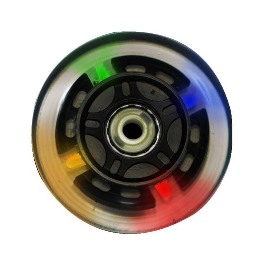 Roda Traxart LED Colorido - 76mm / 80A - 4 unid.