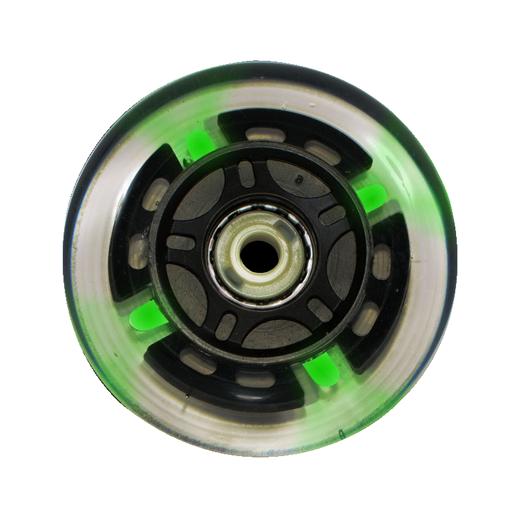 Roda Traxart LED Verde - 76mm / 80 A - 4 unid.