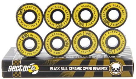 Rolamento Sector-9 Black Ball Ceramic - 8 unid.