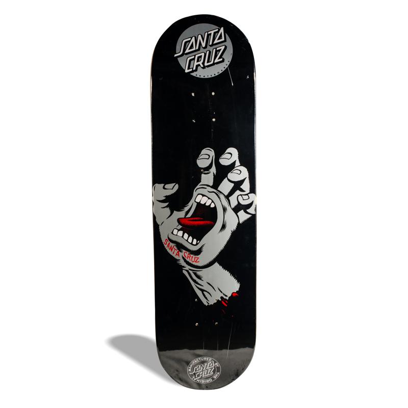 Shape de Skate Powerlite Santa Cruz Screaming Hand Black 8.5''