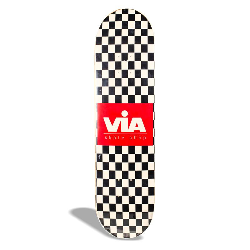 "Shape de Skate Street Marfim Via Drop 1 / Checkerboard 8.50"""