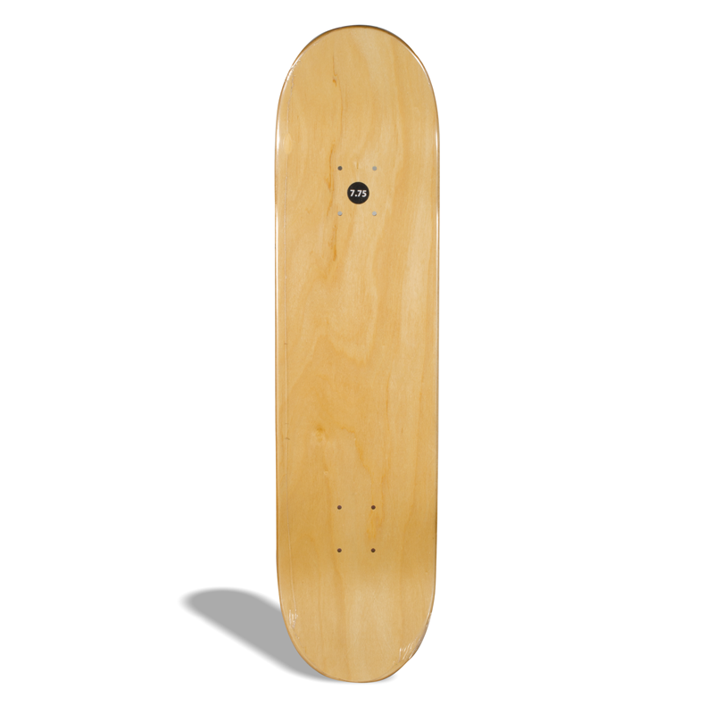 Shape de Skate Street Marfim Via Skate Shop Premium Branco com Listra
