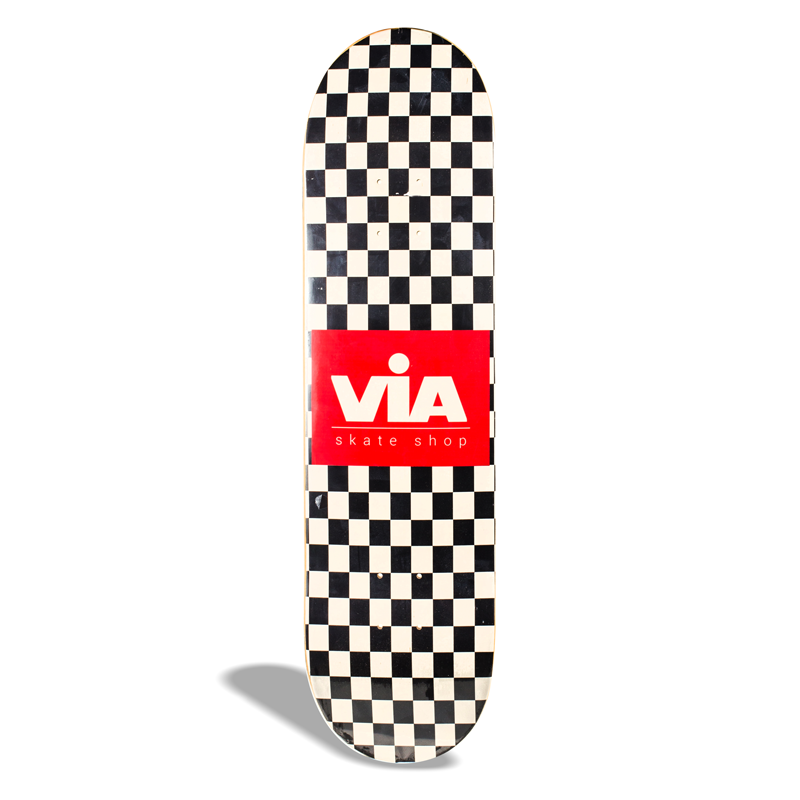 Shape de Skate Street Marfim Via Skate Shop Premium Checkerboard