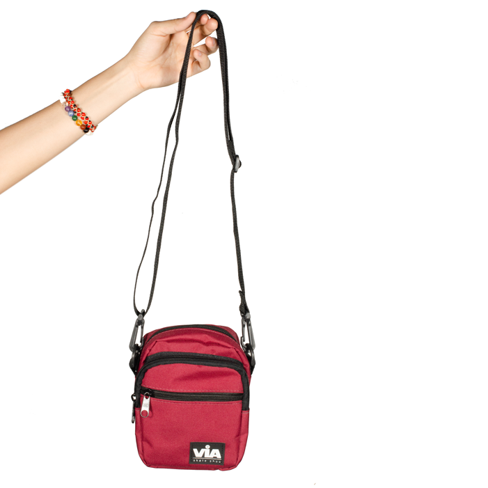 Shoulder Bag Via Bordô