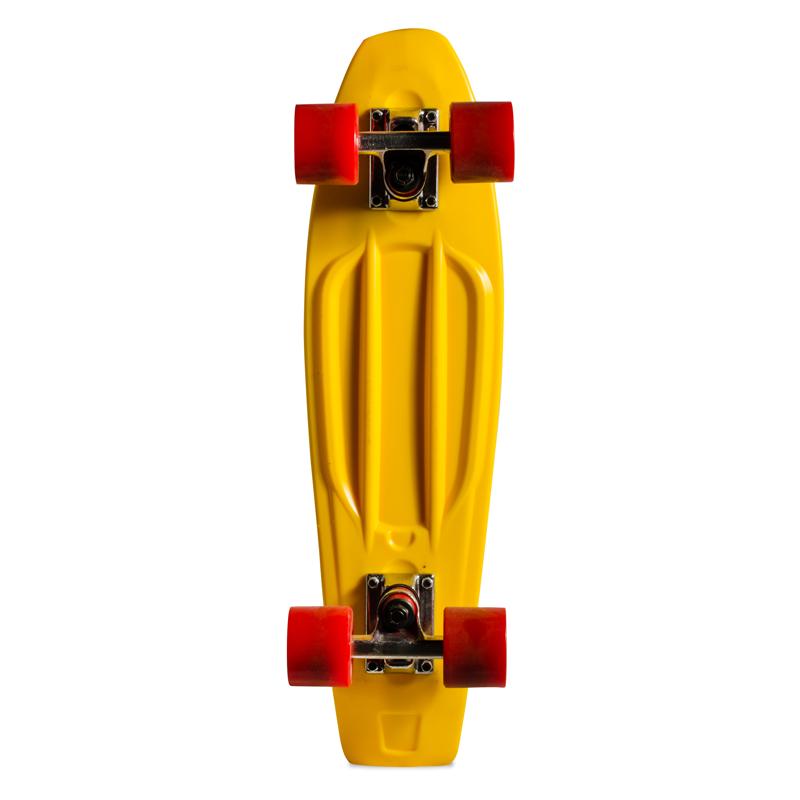 Skate Mini Cruiser de Plástico Creme Amarelo