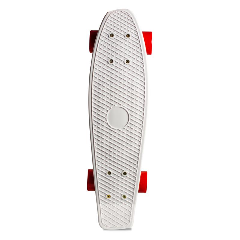 Skate Mini Cruiser de Plástico Creme Branco