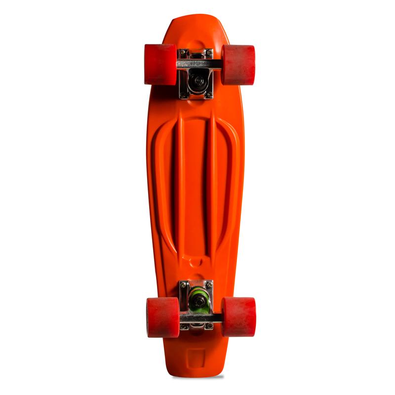 Skate Mini Cruiser de Plástico Creme Laranja