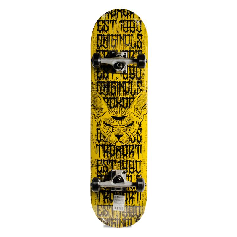 Skate Street Intermediário Completo Traxart Amarelo