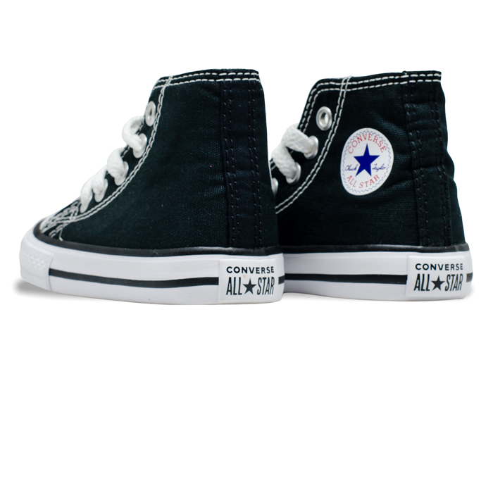 Tênis Converse Chuck Taylor All Star HI Baby / Preto / Branco CK00030002