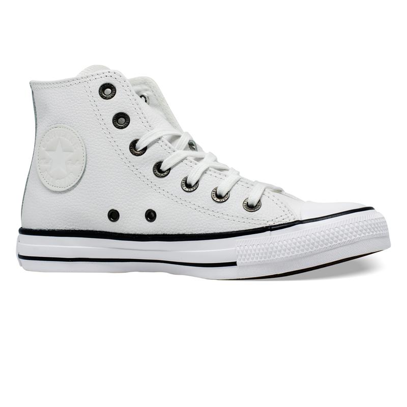 Tênis Converse Chuck Taylor All Star HI Couro Branco