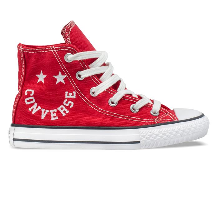 Tênis Converse Chuck Taylor All Star Hi Smile Infantil Vermelho