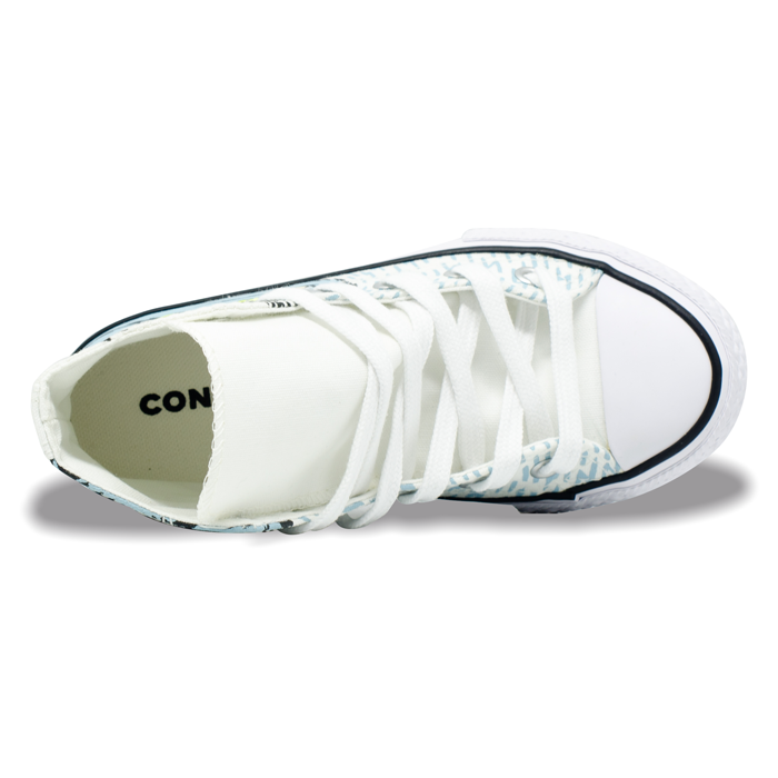 Tênis Converse Chuck Taylor All Star Hi Infantil Branco / Azul Bebê CK08820001