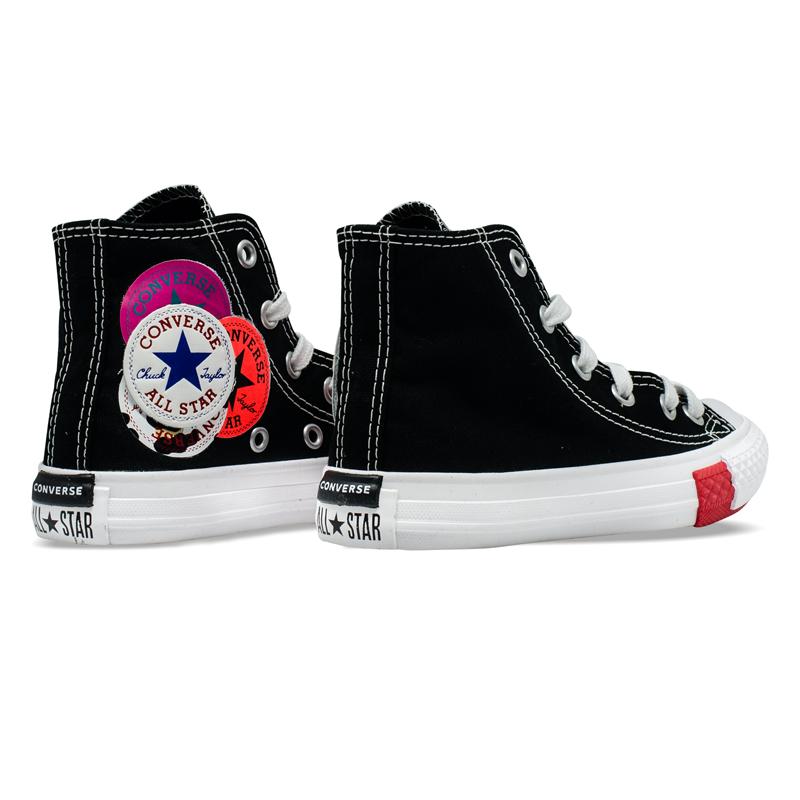 Tênis Converse Chuck Taylor All Star Hi Infantil Preto