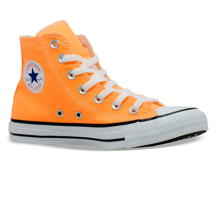 Tênis Converse Chuck Taylor All Star HI Laranja Fluor CT04190041