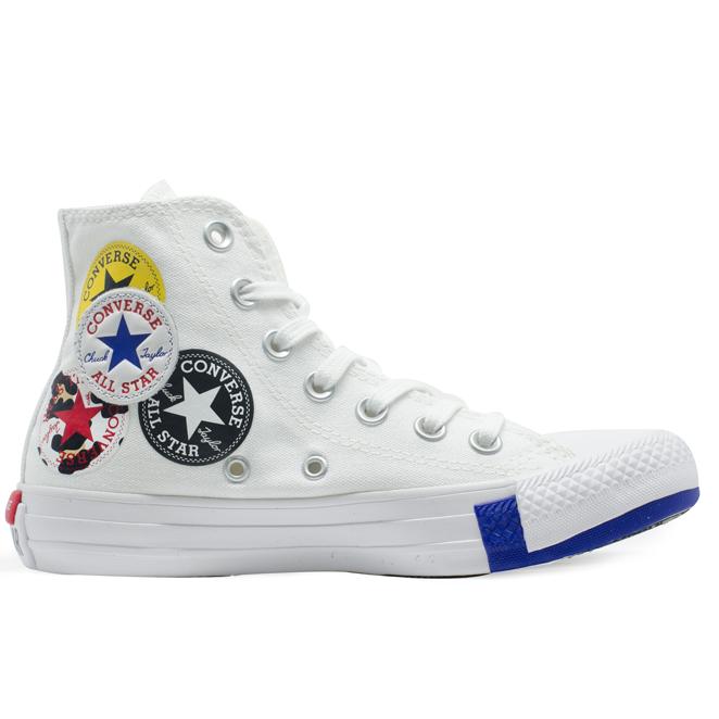 Tênis Converse Chuck Taylor All Star HI Logo Play Branco