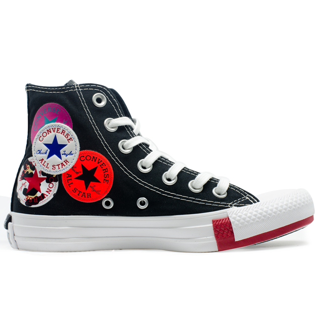 Tênis Converse Chuck Taylor All Star Hi Logo Play Preto