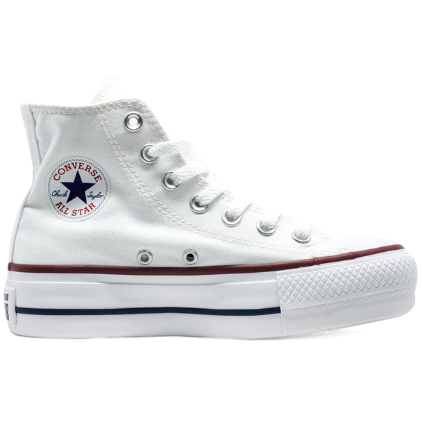 da294120855 Tênis Converse Chuck Taylor All Star HI Plataforma Branco