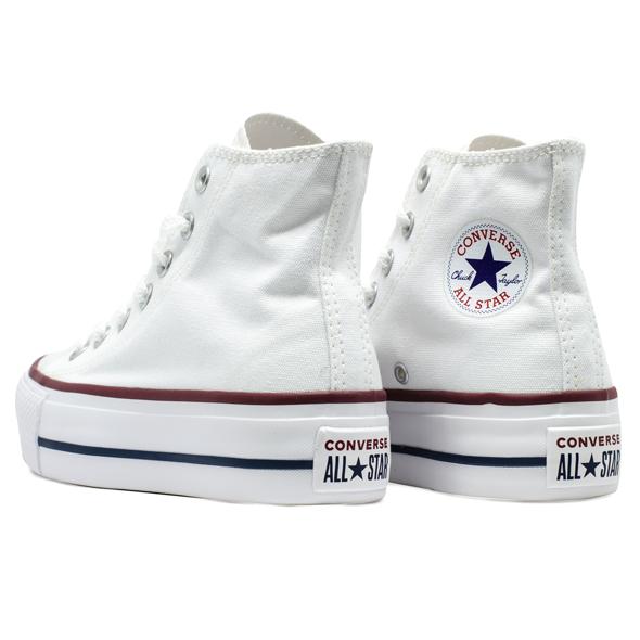Tênis Converse Chuck Taylor All Star HI Plataforma Branco