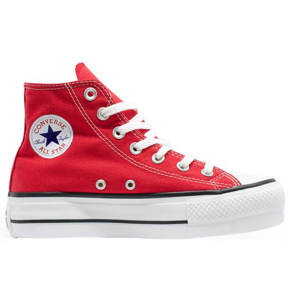 580d50289cd Tênis Converse Chuck Taylor All Star HI Plataforma Vermelho