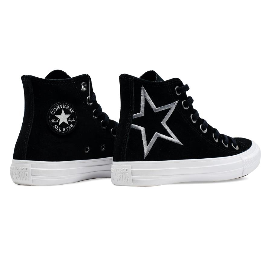 Tênis Converse Chuck Taylor All Star HI Preto/Cinza Metalizado CT 13290001
