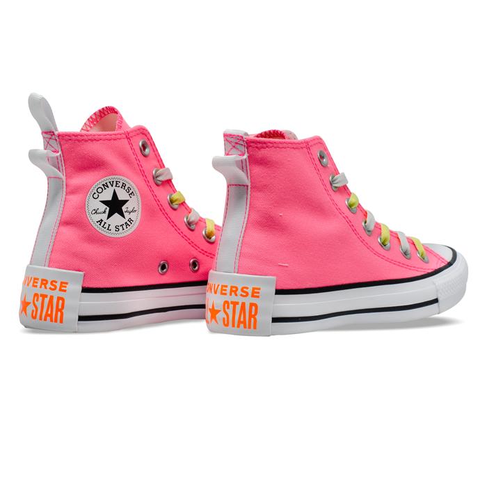 Tênis Converse Chuck Taylor All Star HI Rosa Neon