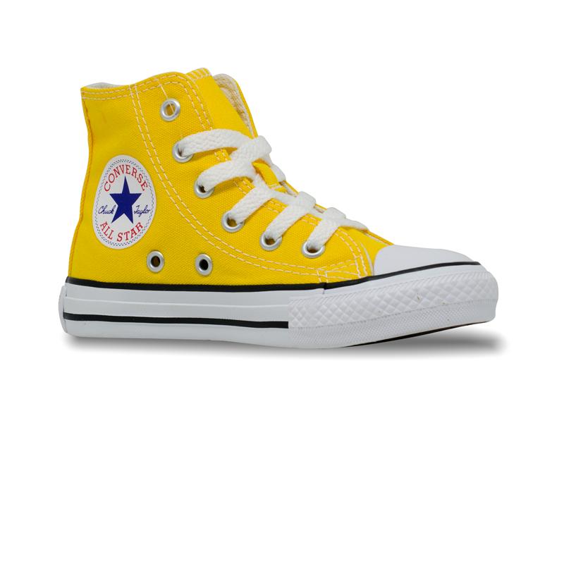 Tênis Converse Chuck Taylor All Star Infantil Hi Amarelo/ Preto /Branco CL04280032