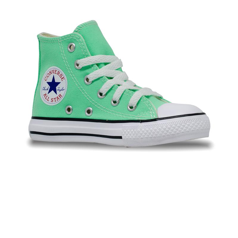 Tênis Converse Chuck Taylor All Star Infantil Hi Verde Brilhante CK04280028
