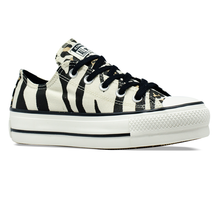 Tênis Converse Chuck Taylor All Star OX Platform Zebra Animal Print CT13620001