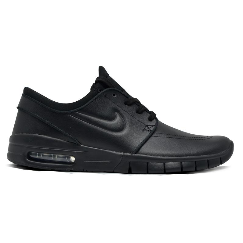 Tênis Nike Sb Janoski Max Preto / Couro
