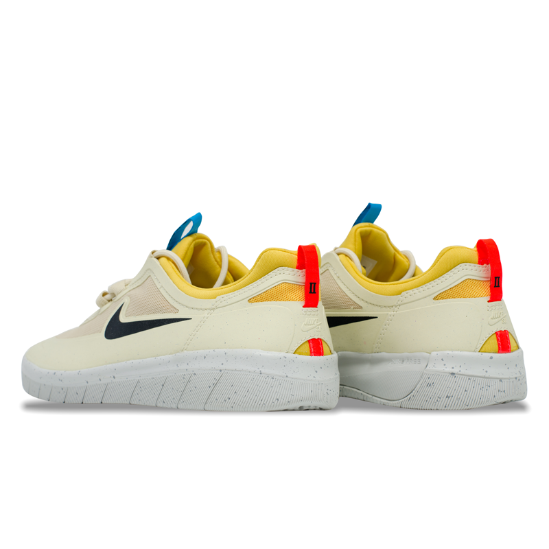 Tênis Nike SB Nyjah Free 2.0 Bege / Amarelo / Azul