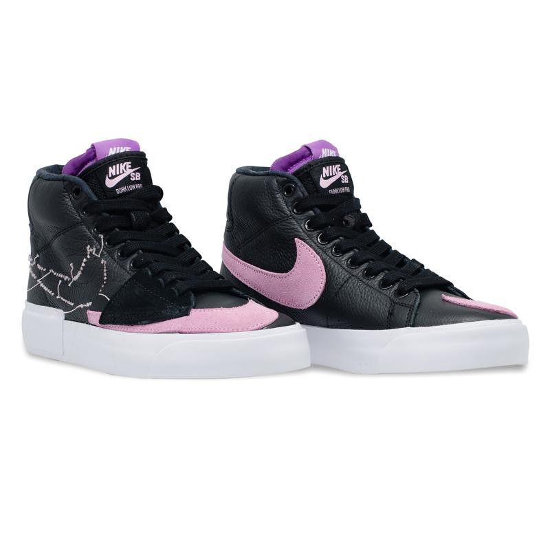 Tênis Nike SB Zoom Blazer Mid Edge Preto / Rosa