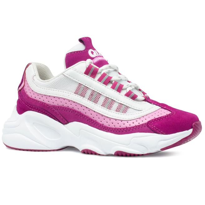 Tênis Qix Chunky Wave Pink e Rosa