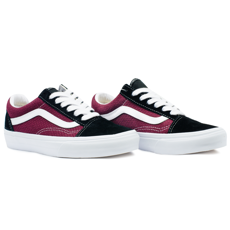 Tênis Vans Old Skool Preto - Bordô - Black / Port Royale VN0A4U3BWT9