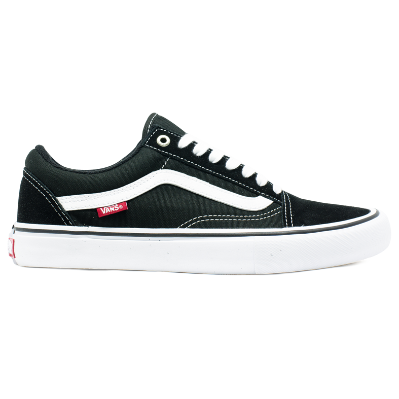 02082c98aa8eb Tênis Vans Old Skool PRO Preto   Branco - Via Skate Shop ...