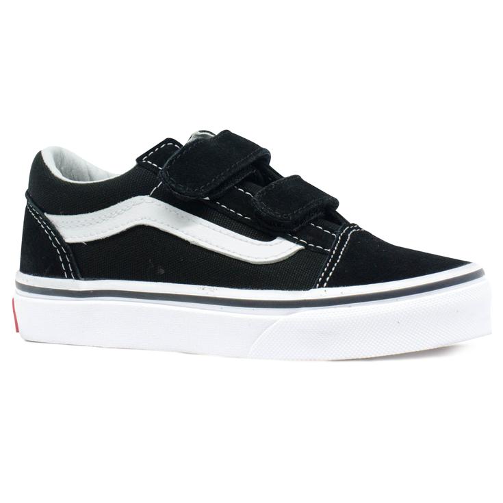 3448af44939 Tênis Vans Old Skool V Infantil Preto   Branco