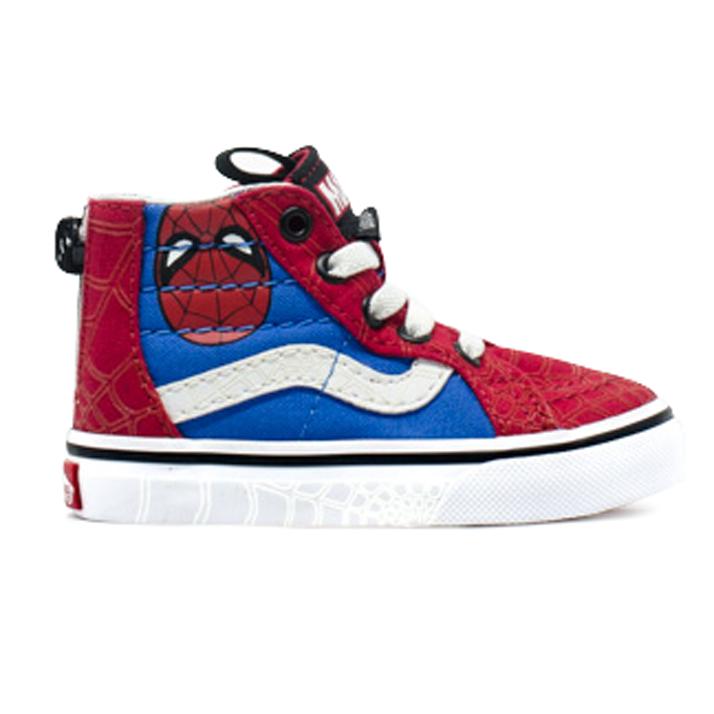 Vans x Marvel Sk8 Hi Spider Man Skate Shoes | Marvel shoes