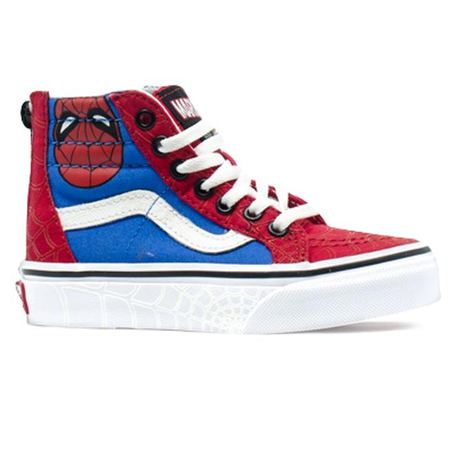Tênis Vans SK8-HI Zip Marvel Spider Man Infantil