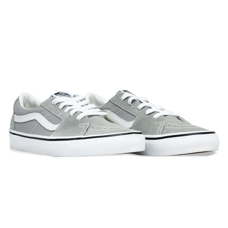 Tênis Vans Sk8-Low Drizzle True White Cinza