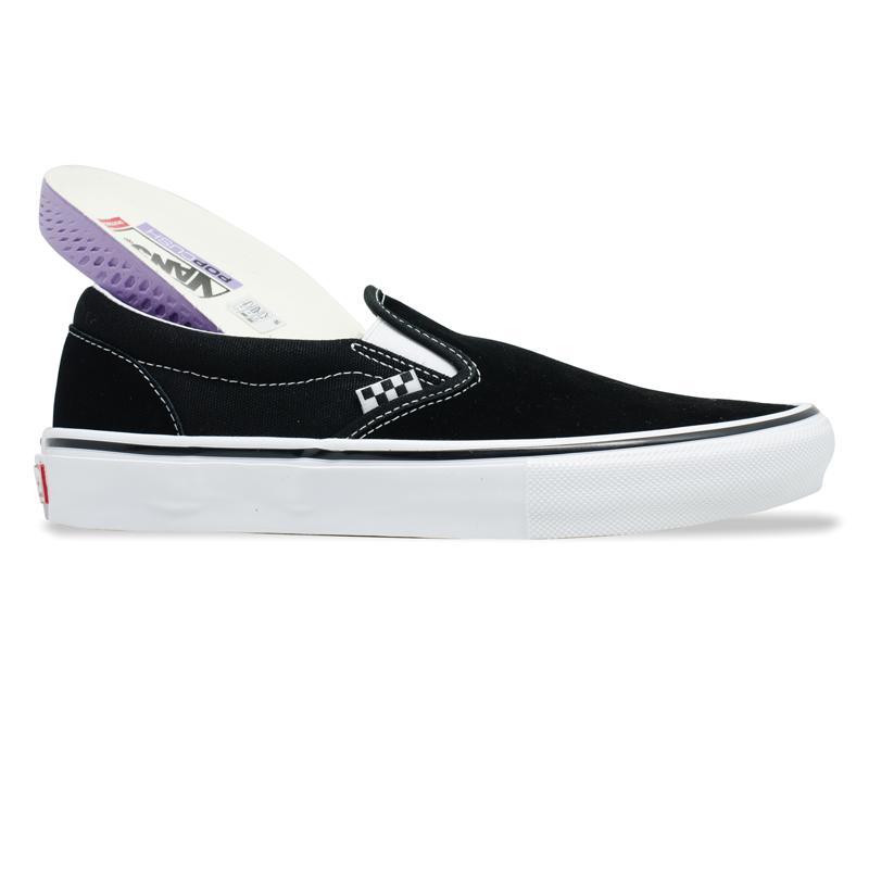 Tênis Vans Skate Slip On Preto e Branco VN0A5FCAY28