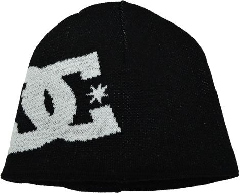 Touca DC Double (2 LADOS - Interno e Externo) Preta com Logo Branco