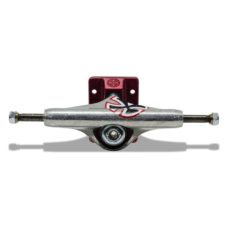 Truck para Skate Independent Hi Solo Cross STG Silver / Vermelho