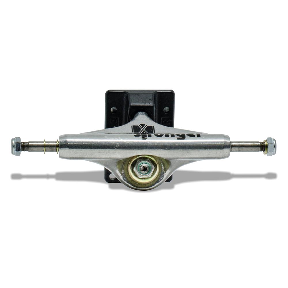 Truck para Skate Stronger 129mm Mid Base Preta