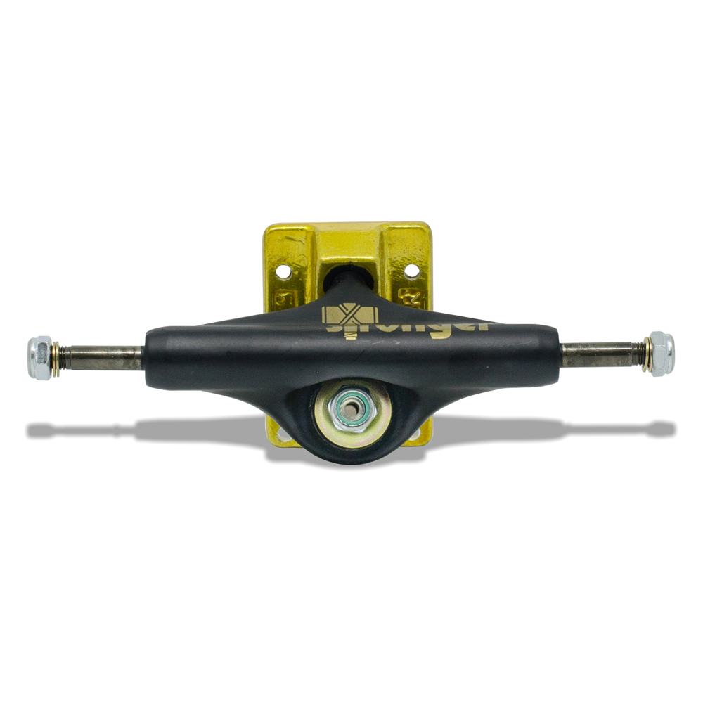 Truck para Skate Stronger 149mm Low Preto com Base Dourada