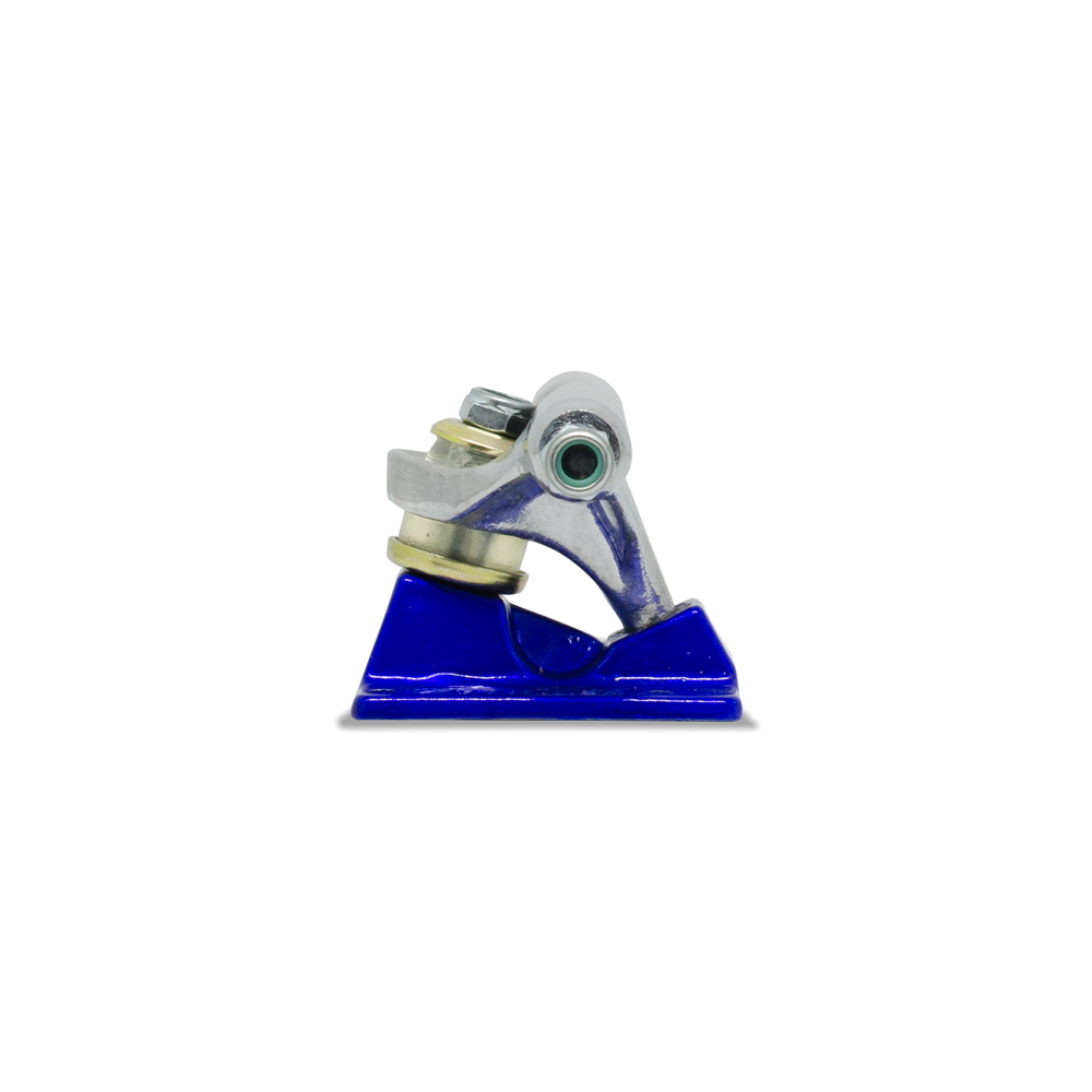 Truck para Skate Stronger 149mm Low Silver com Base Azul