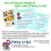 GIFT CARD - VALE FESTA DE PRESENTE!
