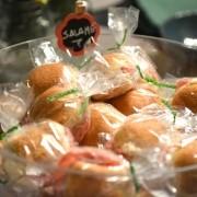Kit 10 sanduichinhos de salame