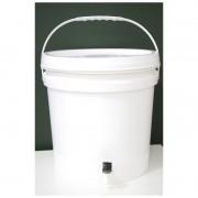Balde Fermentador de plástico alimentício COM TAMPA - 12 litros