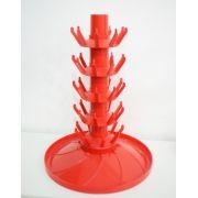 Escorredor de Garrafas c/ eixo rotativo para 45 garrafas